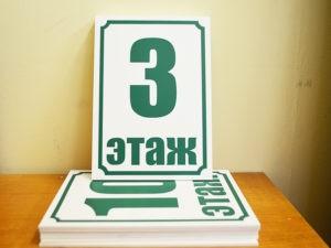 таблички на этаж